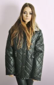 Ladies Black Quilted Jacket